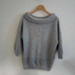 Beautiful plush grey sweater